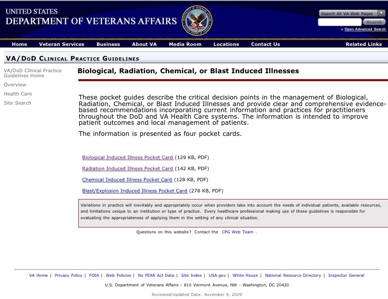 US Veterans Health Radiation Introduction